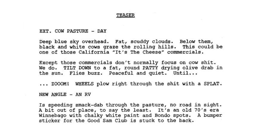 Breaking Bad TV Script Sample